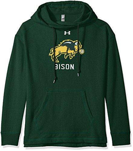 Under Armour NCAA North Dakota State Women's Pull-Over Fleece Hoodie, Large, Dark Green (Ncaa Hoodie Pullover)