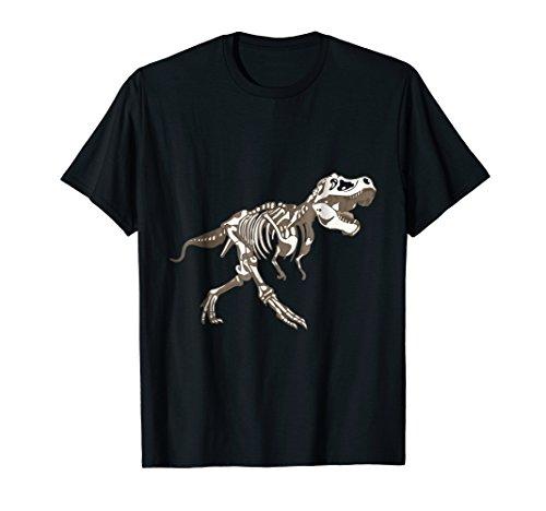 Dinosaur T Rex Skeleton For Kids Cool Halloween Party Shirt -