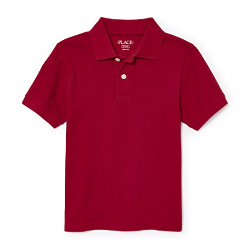 The Children's Place Little Boys' Short Sleeve Uniform Polo, Classicred 4756, Small/5/6