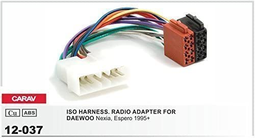 Carav 12-037Auto Radio ISO cable adaptador para Daewoo Nexia espero