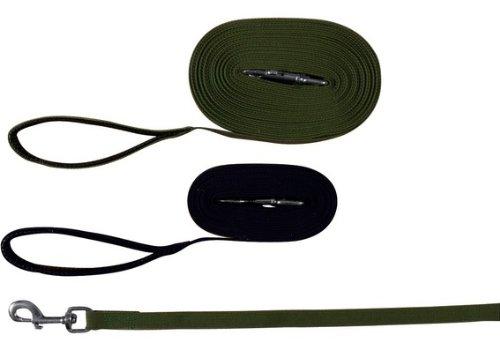 Trixie 19911 Schleppleine, Gurtband 10 m/20 mm, schwarz