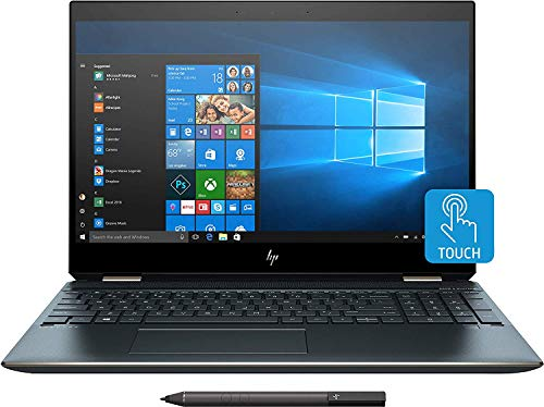 2019 HP Spectre x360 15t Touch 4K IPS NVIDIA GTX 1650 with 6 core 9th Gen Intel i7 9750H, 1TB SSD,16GB,3 Years McAfee Internet Security,2-in-1,Windows 10 PRO Upgrade,Worldwide Warranty (Poseidon Blue)