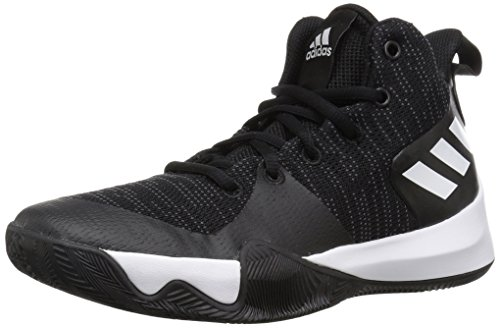Price comparison product image Adidas Kid's Shoes Explosive Flash Basketball, Core Black/Carbon/White, 1 M US Little Kid