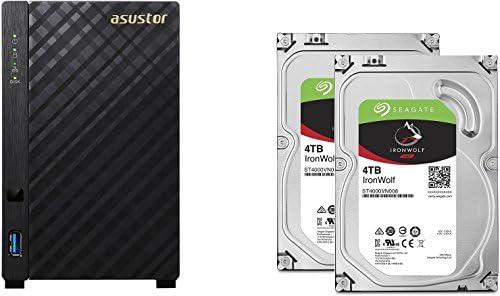 Seagate set bestehend aus zwei Ironwolf 4TB NAS optimierten Festplatten mit IHM Technik und Asustor NAS AS3202T