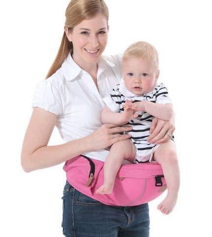 CDKET 新しいベビーキャリアホールドウエストベルトベビーヒパットキッズ幼児ベビーヒップシートベビーシートサスペンダー (Color : ピンク)  ピンク B07R3S3JS8