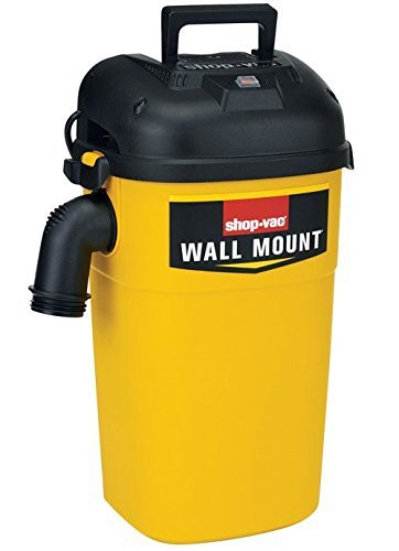 Shop-Vac 3942300 5 Gallon 4.0 Peak HP Wall Mount Wet/Dry Vacuum Yellow/Black Hands-Free Vacuum with Accessories, Type AA Cartridge Filter & Type CC Foam Sleeve & Type O Filter Bag (Pack of 1)