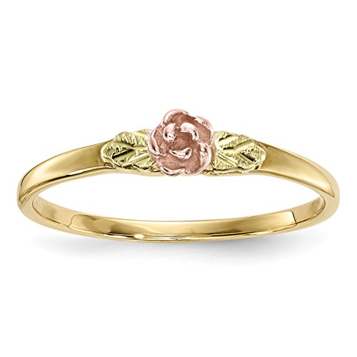ICE CARATS 10k Tri Color Black Hills Gold Rose Band Ring Size 7.00 Fine Jewelry Gift Set For Women Heart by ICE CARATS (Image #1)
