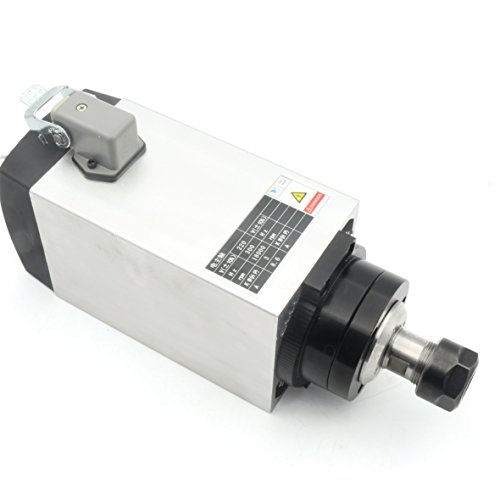 Spindle Ceramic Bearing - Square 3KW ER20 Air Cooled Spindle Motor Runout-Off 0.05MM 4PCS Bearings 18000RMP CNC Router Engraving Milling Grind Machine【For Small and Medium-Sized Processing】