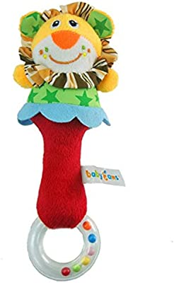 Animal Handbells Developmental Toy Bed Bells Kids Baby Soft Toys Rattle Lion