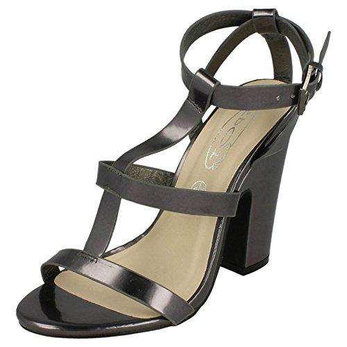 Spot On Damen High Heel Sandalen Zinn