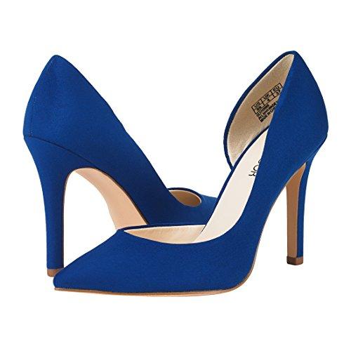 JENN ARDOR Stiletto High Heel Shoes for Women: Pointed, Closed Toe Classic Slip On Dress Pumps-Blue by JENN ARDOR (Image #1)