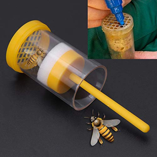 NszzJixo9 Bee Queen Marking Catcher One Handed Marker Bottle Plunger Plush Tool Has Fine Workmanship The Surface Smooth Mellow Without Burr Safe To Use