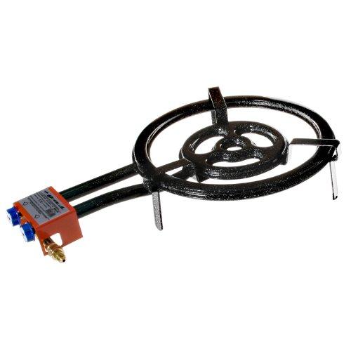 EXTREM STARKER GASBRENNER, 3-Ring, 40cm Durchmesser, 15,05 KW LEISTUNG, für Paella, etc.