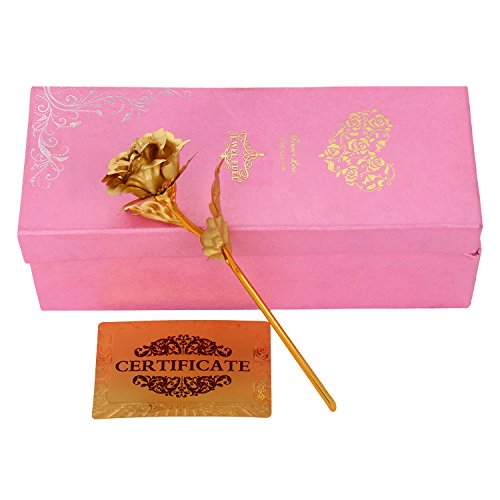 JEWEL FUEL 24K Gold Rose with Gift Box  25Cm