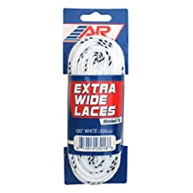 A & R Extra Wide Hockey Lace White
