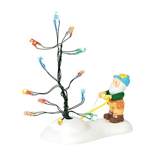 Department 56 North Pole Village Series Accessories Testing The Twinkle Lit Figurine, 1.75