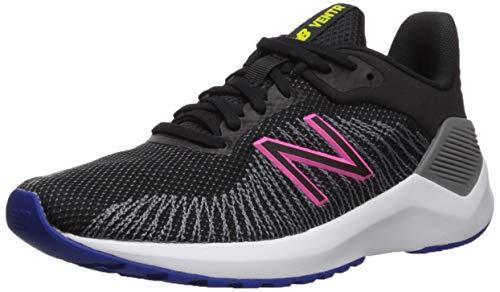 New Balance Women's VENTR V1 Running Shoe, Black/Peony, 7.5 M US