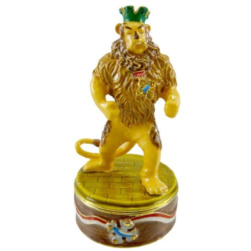 Wizard Of Oz Jeweled Boxes - DEPT 56 BEJEWELED BOXES Cowardly Lion Jeweled Box Enamel Wizard of Oz 97107