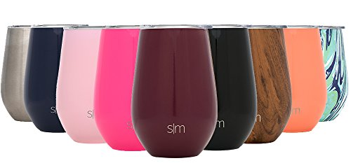 Simple Modern Spirit 12oz Wine Tumbler Glass with Lid - Vacuum Insulated Stemless 18/8 Stainless Steel Wine Cup -Cabernet
