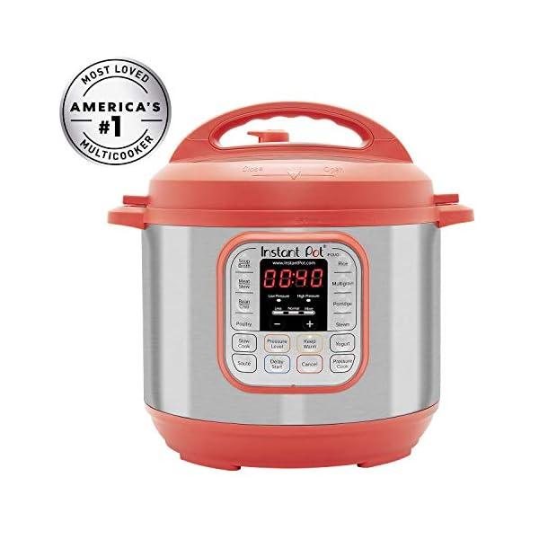 Instant Pot IP-DUO60RED Pressure Cooker, 6 quart, Red (Renewed) 1
