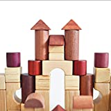 Toy Building block - Children's birthday gift toys large particles wooden blocks boys and girls early education enlightenment toys 1-3-6 years old puzzle baby infant wood blocks 33 ( Color : C )