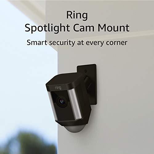 Ring Spotlight Cam Mount, Hardwired HD Security Camera, Black