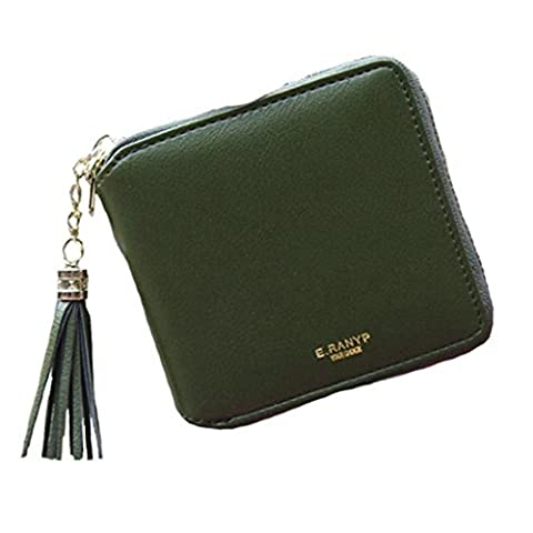 lovelive99 Women's Mini Wallet PU Leather Wallet Coin Card Holder Lady's Purse (Army green)