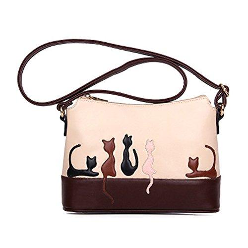 junkai Bolso de hombro ,Moda Bolsos para Mujer,Bolso de hombro de patrón de conejo de gato y bolso
