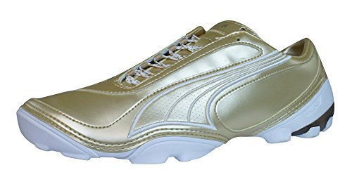 海洋のアノイ作家Puma V1.08 4 Trainer Mens Soccer Boots / Cleats - Gold [並行輸入品]