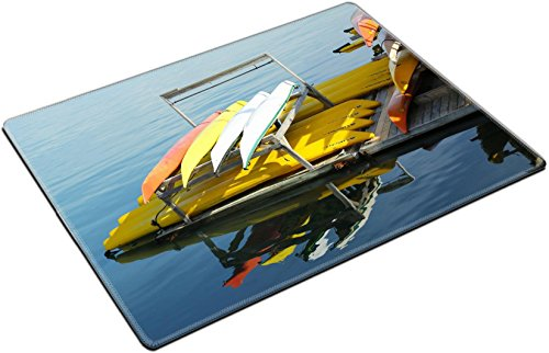 MSD Place Mat Non-Slip Natural Rubber Desk Pads design 20802183 BAR HARBOR MAINE JULY 6 Sea kayaks ready for tourists in Bar Harbor on July 6 2013 Bar Harbor is a famous summer colony i -