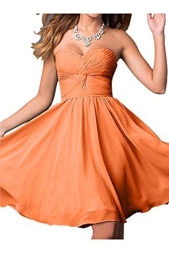 Topkleider para naranja mujer trapecio Vestido wq8Hw1CxS