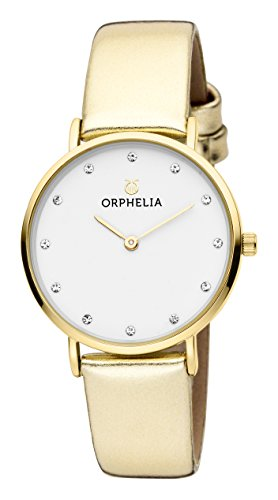 ORPHELIA Fashion Gold Leather Strap-OR11716
