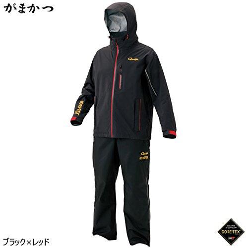 がまかつ ゴアテックス レインスーツ(C-Knit) GM-3484 ブラック/レッド LL   B076Z78H7B