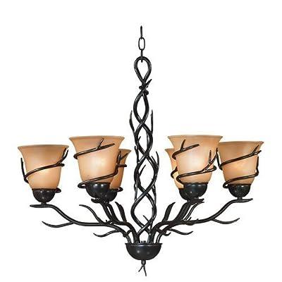 Kenroy Home 90900 Twigs 6 Light 1 Tier Chandelier,