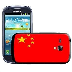 Fancy A Snuggle - Carcasa rígida para Samsung Galaxy S3 Mini i8190, diseño de la bandera de China