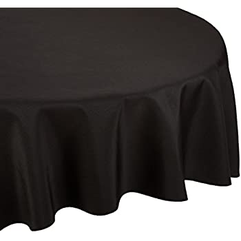LinenTablecloth 120 Inch Round Polyester Tablecloth Black