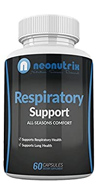 Lung Detox Cleanse Supplement for Bronchial Wellness & Natural Respiratory Support for Cigarette Smokers - Vegetarian Friendly Nasal Decongestant- 60 Capsules - Made USA by Neonutrix- Non-GMO