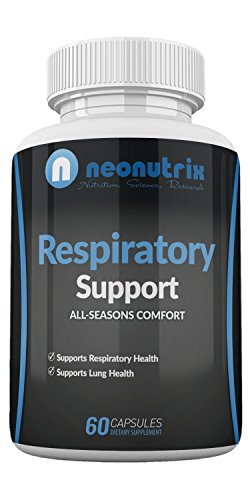 Lung Detox Cleanse Dietary Supplement for Bronchial Wellness & Natural Respiratory Support for Cigarette Smokers - Vegetarian Friendly Nasal Decongestant- 60 Capsules - Made USA by Neonutrix- Non-GMO