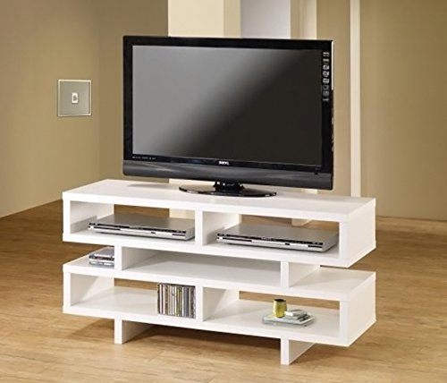 Coaster Home Furnishings 700721 Contemporary TV Console, White by Coaster Home Furnishings (Image #3)