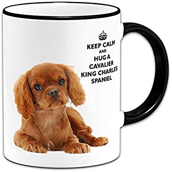 Personalize with Dog Name Brittany Dog Breed Mug by Dan Morris
