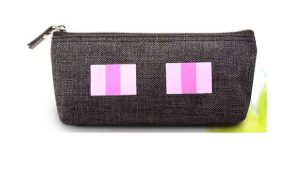 Minecraft Figura estuche soporte - Enderman cara pluma bolsa (negro): Amazon.es: Oficina y papelería