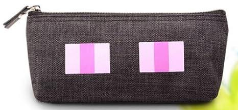 Minecraft Figura estuche soporte – Enderman cara pluma bolsa (negro)