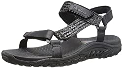 Skechers Cali Women's Reggae Redemption Gladiator Sandal, Black Multi, 5 M US