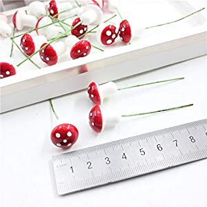 10pcs/lot Mini Artificial Plastic Fruit Small Berries Artificial Flower red Cherry Stamen Pearlized Wedding Christmas Decorative,Mushrooms Berries 4