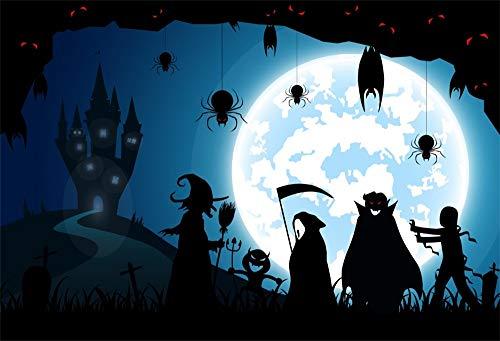 OFILA Halloween Party Backdrop 10x8ft Kids Halloween Party