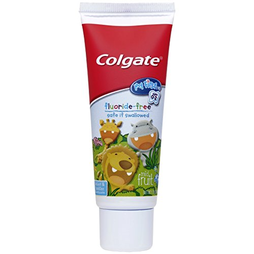 41ZhmGuvPXL - Colgate My First Baby And Toddler Toothbrush And Fluoride Free Toothpaste Set For Ages 0-2 Years