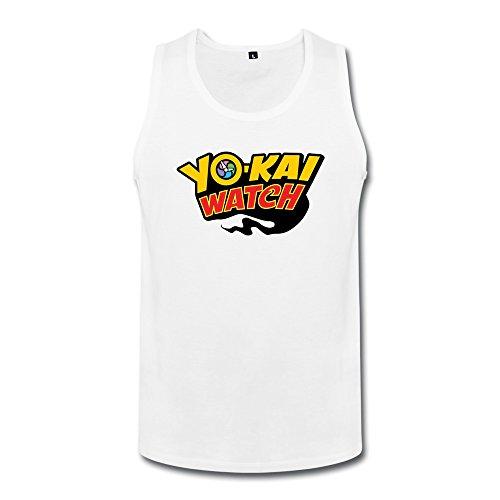 KAITIAN Youkai Watch Men's T-shirt White Victory Tank
