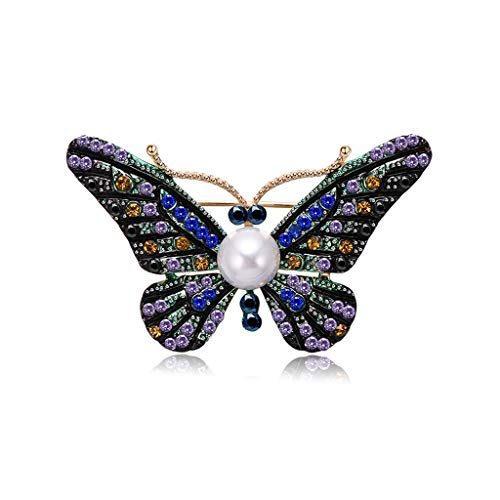 Kofun Brooch, Butterfly Brooch Vintage Jewelry Women Suit Insect Gifts Antique Corsage