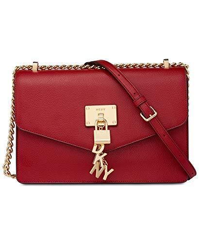 DKNY Elissa Medium Chain Strap Shoulder Bag (Bright Red)