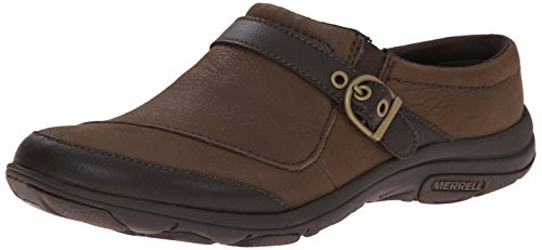 Merrell Women's Dassie Slide Slip-On Shoe, Charcoal Brown, 6.5 M US